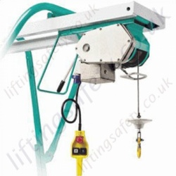 Imer ET300 Free Standing Gantry Hoist, 220 or 110v, 25m Working Height - 300kg Capacity