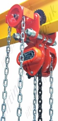Tiger Chain Hoist with Integrated Trolleys (Push and Geared Travel) - Range from 500kg to 35,000kg