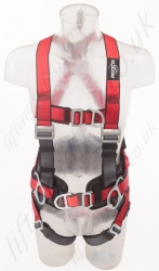 "Protecta ""Pro"" Fall Arrest Harness with Belt, Front and Rear Fall Arrest Attachment Points, Size: S to XL"