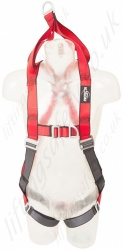"Protecta ""Pro"" Rescue Harness, Front and Rear Attachment Point and Rescue Lifting Straps, Size: S to XL"