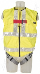 "Protecta ""Pro "" Single Point Hi-Vis Vest Harness with Rear 'D, Size: M/L to XL"