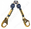 "Sala ""Nano-Lok"" Twin Leg Webbing Self Retracting Lifelines with Optional Lengths and Fittings"