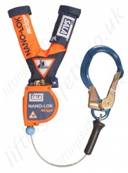 "Sala Nano-Lok ""Edge"" Self Retracting Lifelines, Cable 2.4m with Optional Fittings"
