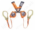 "Sala Nano-Lok ""Edge"" Twin Leg Self Retracting Webbing Lifelines, with Optional Lengths and Optional Fittings"