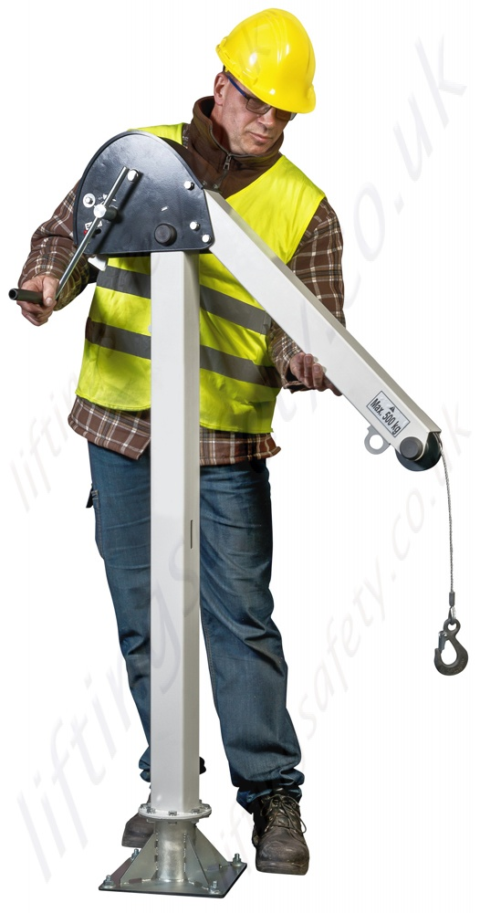 Steel Lift Arm : Lightweight kg steel lifting davit range from