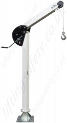Lightweight (25kg) Steel Lifting Davit. Range from 125kg to 500kg capacity