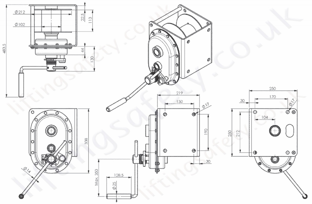 Gebuwin Quot Tl Series Quot Spur Gear Winch Capacity 1000kg To