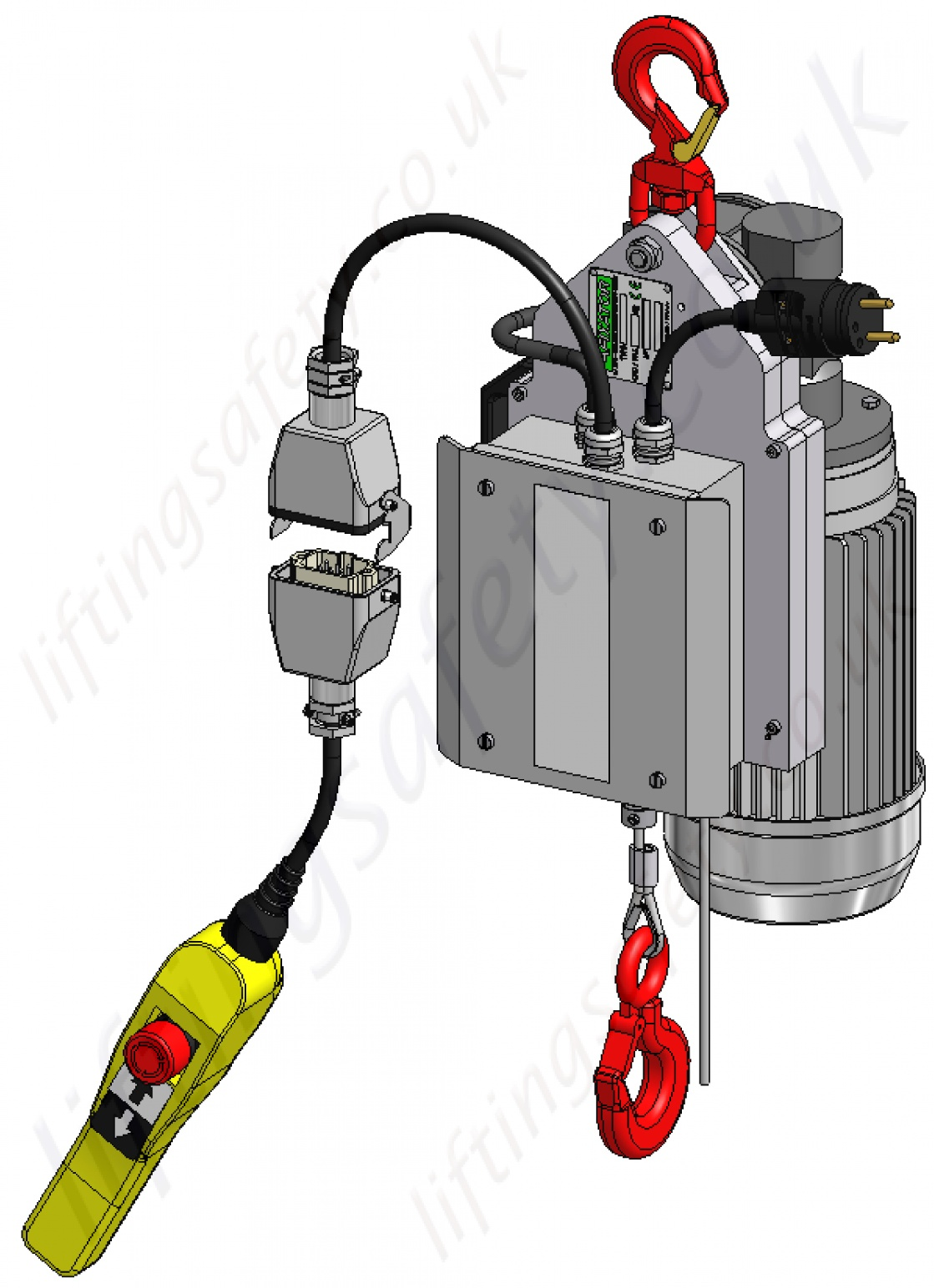 Wire Rope Lifting and Pulling Winch / Hoist. Single Phase 230v ...