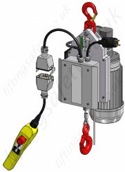 Wire Rope Lifting and Pulling Winch / Hoist. Single Phase 230v, Range from 90kg to 300kg
