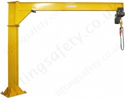 Free Standing 'I' Beam Profile Under braced Swing Jib Crane, Range: 80kg to 1000kg