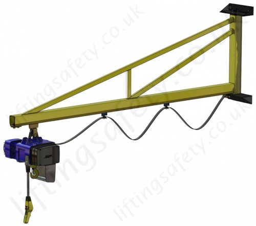 Wall Mount Over Braced Slewing Jib Crane