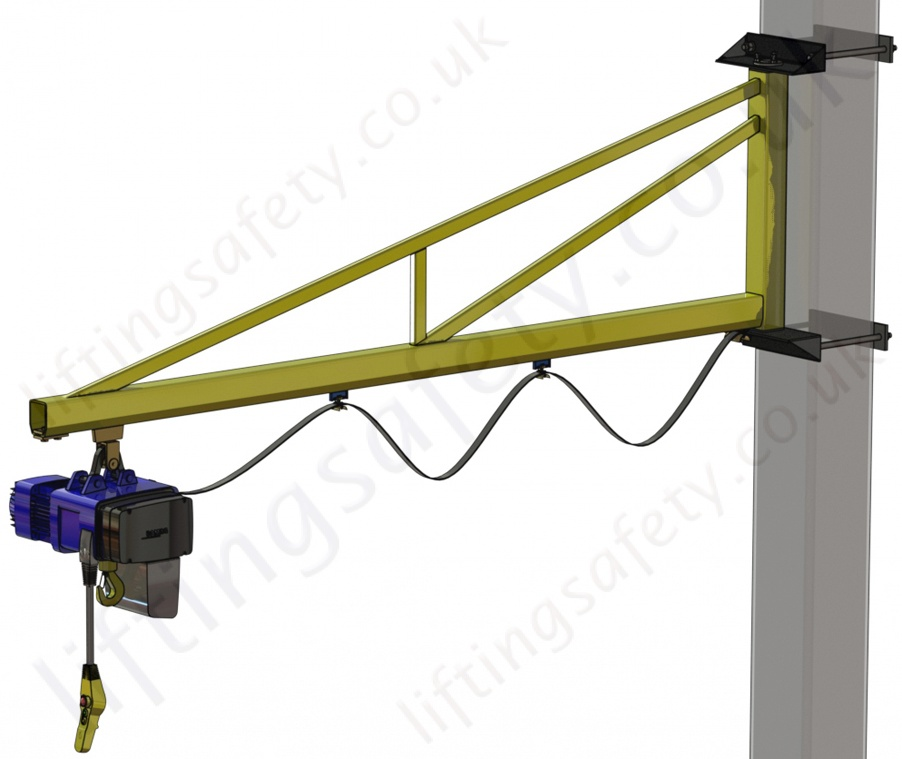Swing Arm Hoist Mount : Clamp mount c profile over braced swing jib crane