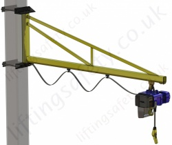 Clamp Mount 'C' Profile, Over-Braced Swing Jib Crane, Range: 80kg to 1000kg