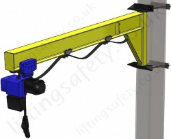 Clamp Mount 'I' Beam Profile, Under-Braced Swing Jib Crane, Range: 80kg to 1000kg
