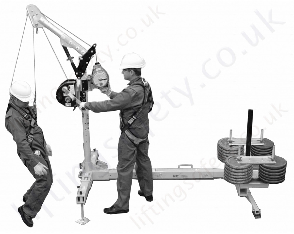 Safety Lifting Arms : Sala advanced long reach quot counterweight davit arm system