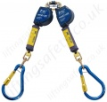 "Sala ""Nano-Lok XL"" Twin Leg Webbing Self Retracting Lifelines with Optional Lengths and Fittings"
