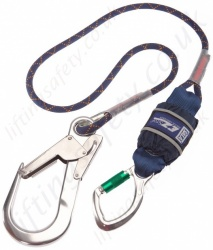 "Sala ""EZ-Stop"" Edge Tested Shock Absorbing Lanyard, Length 1.5 to 2m, and Optional Fittings"