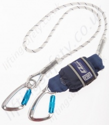 "Sala ""EZ-Stop"" Shock Absorbing Rope Lanyard, Lengths 1.25 to 2m, Single or Twin Leg"