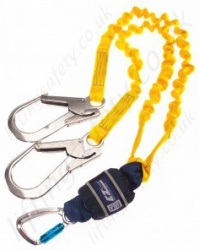 "Sala ""EZ-Stop"" Expander Shock Absorbing Lanyard, Length 1.25 to 2m, Single or Twin Leg"