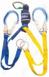 "Sala ""EZ-Stop"" Scaffold Hook Tie-Back Shock Absorbing Lanyard, Length 1.65m, Single or Twin Leg"