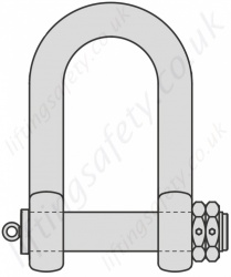 Heavy Duty Double Nut Bolt Type Dee Shackle - Range 34 tonne to 225 tonne