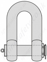 Heavy Duty Bolt Type Dee Shackle - Range 120 tonne to 550 tonne