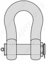 Heavy Duty Bolt Type Dee Shackle - Range 120 tonne to 2,000 tonne