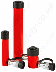 Single Acting Multi-Purpose Hydraulic Cylinders, from 4.5 to 109 tonnes, Stroke Lengths 25 to 457mm.