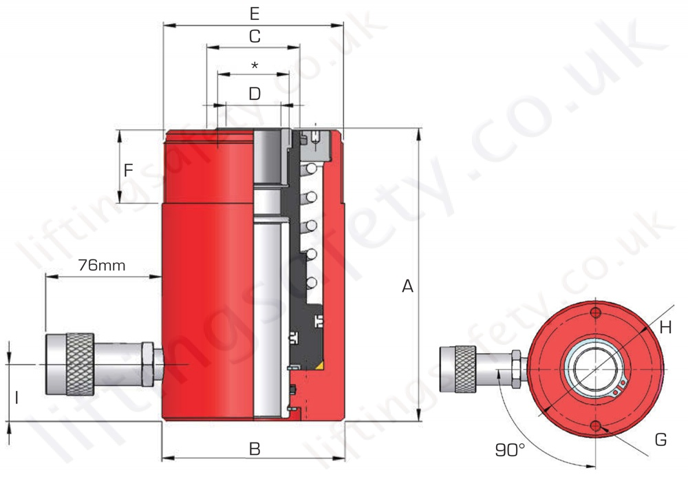 Hollow Hydraulic Cylinder Dimensions