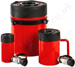 Single Acting Hollow Piston Hydraulic Cylinders, from 11 to 102 tonnes, Stroke Length 25 to 152mm