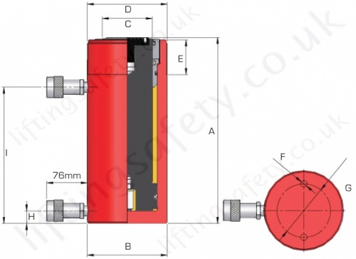 Double Acting Hyd Cylinder Dimensions