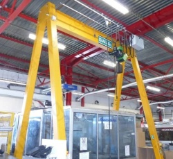 Mobile and Fixed Steel A-frame Gantry Cranes, Capacities from 125kg to 10.0 Tonne