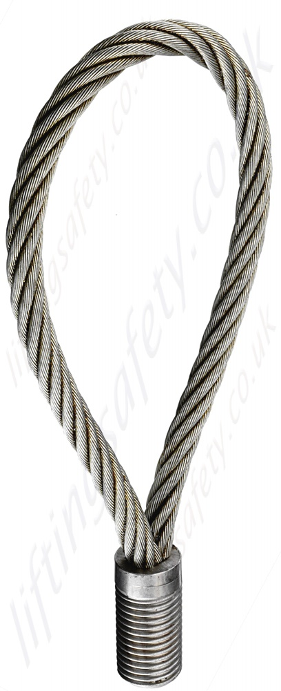 Wire Rope Lifting Loop with Threaded Termination, from M12 to M42 ...
