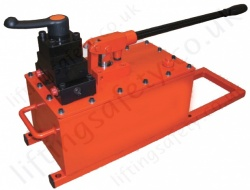High Flow Manually Operated Hydraulic Pump, Two Speed