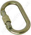 "Tractel ""M10"" Steel Screwgate Permanent Connection Karabiner, 22.3kN, 15mm Opening"