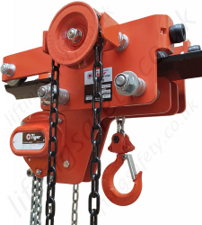 Tiger Low Headroom Chain Hoist with Integrated Geared Trolley - Range from 1000kg to 10,000kg