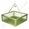 Materials Lifting Cage / Brick Basket for Hoist Lifting, 200kg Capacity