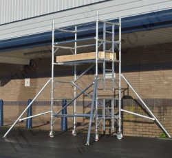 Aluminium Scaffold Tower with Optional Platform Heights, Width and Depths