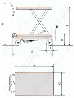 Stainless Steel Scissor Lift Table Dimensions