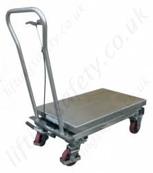 Stainless Steel Mobile Scissor Lift Table, Range from 100kg to 500kg