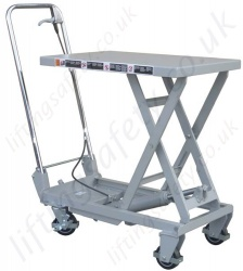 Aluminium Mobile Scissor Lift Table, 100kg Capacity
