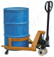 Manually Operated Hydraulic Pallet Truck Style Drum Mover, 250kg Capacity