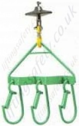 Hoist Mounted Lifting Hooks, 60kg Capacity.
