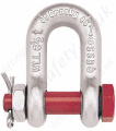 "Crosby G2150 & S2150 Bolt Type Chain Shackles. Lifting ""D"" Shackles (Dee Shackles) with Split Pin - Range from 500kg to 85 Tonne"