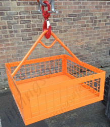 Materials Lifting Cage / Brick Basket for Hoist Lifting, 250kg Capacity