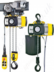 Yale CPV Electric Chain Hoist, 230v 1ph or 400v 3ph, 250kg to 5000kg Capacity