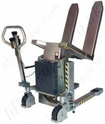 Stainless Steel Electric Lift & Tilting Pallet Lifter, Capacity 1000kg