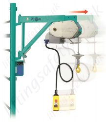 Imer TR225N Scaffold Hoist with Extendable Bracket, 230 or 110v, 30m Working Height - 200kg Capacity