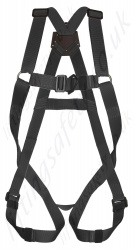 LiftingSafety Black Fall Arrest Harness with with Front & Rear 'D' Rings