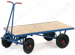 Heavy Duty Flatbed Trolley, Capacity 500kg or 1000kg